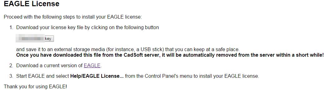 電子回路CAD Eagleのライセンス登録 | ぱぱネット(株)