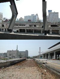 旧駅解体中
