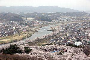 船岡城址と一目千本桜